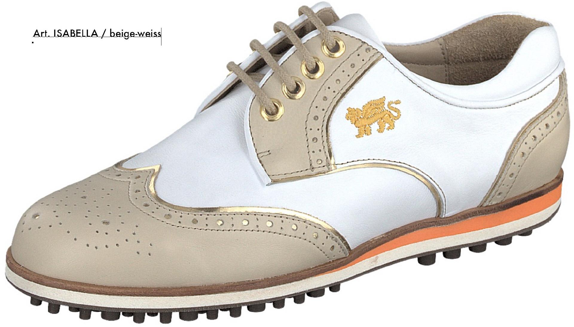 Aerogreen Golfschuh Isabella Größe 39.5 Beige (Beige/Weiß) 5sTsX